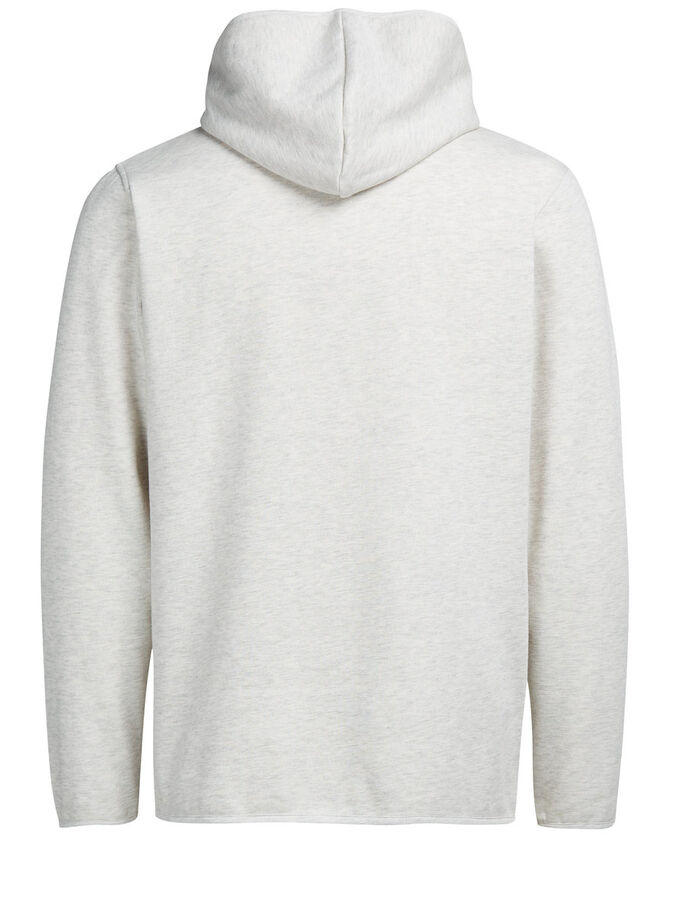HIGHNECK HOODIE, Treated White, large