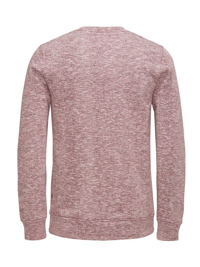 VEELZIJDIG GEMÊLEERD SWEATSHIRT, Fig, large