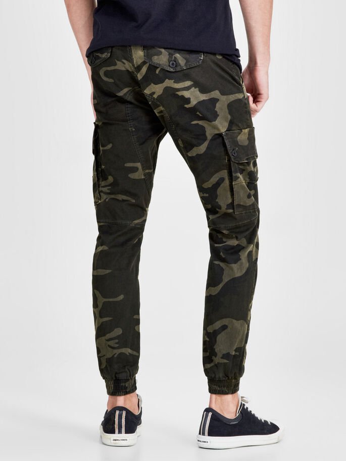 PAUL WARNER AKM 280 CAMO CARGO BROEK, Green Eyes, large