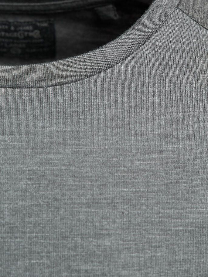 RAGLAN- T-SHIRT, Dark Grey Melange, large