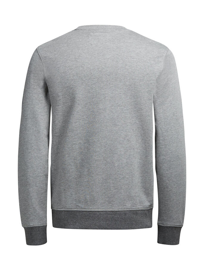 GRAFISK SWEATSHIRT, Light Grey Melange, large