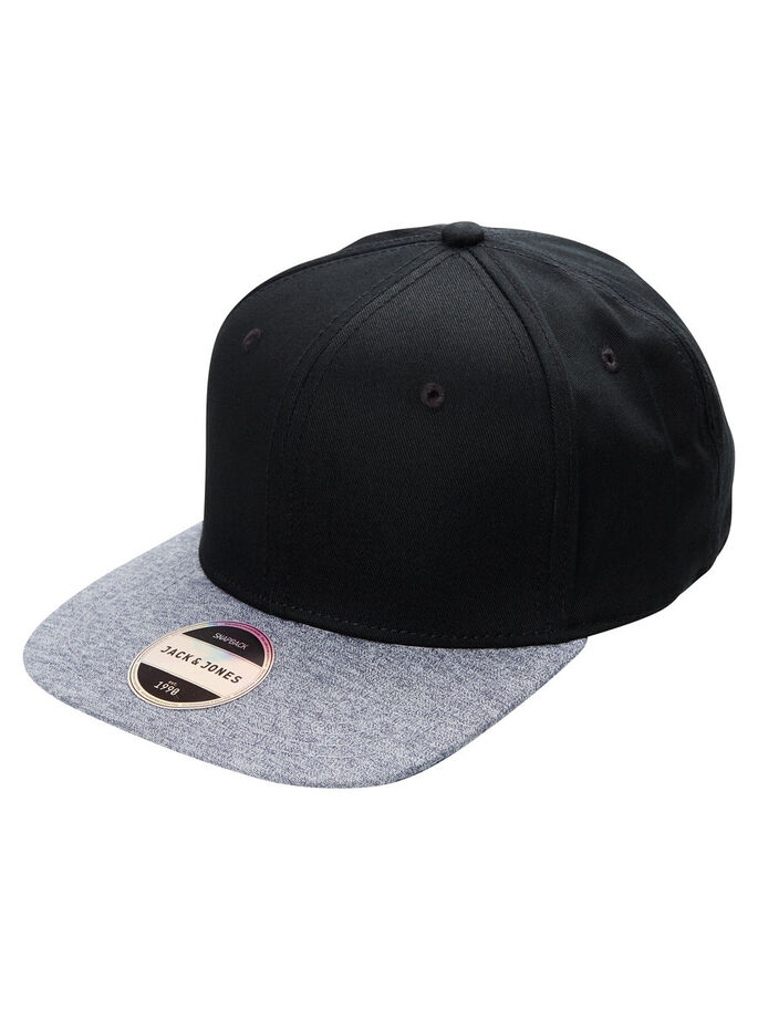 SNAPBACK CAP, Black, large