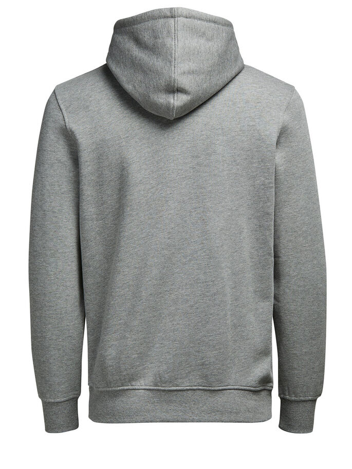 GRAPHIC HOODIE HOODIE, Light Grey Melange, large