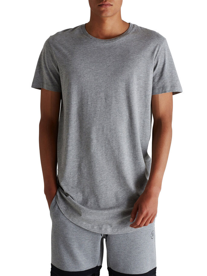 COUPE LONGUE SIMPLE T-SHIRT, Light Grey Melange, large