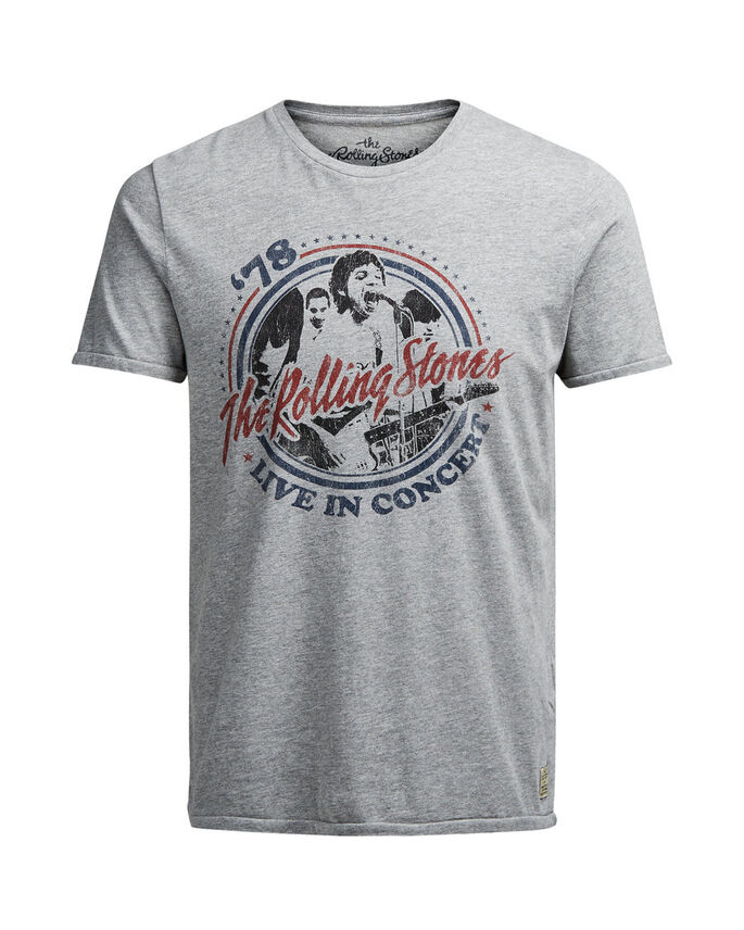 ROLLING STONES T-SHIRT, Light Grey Melange, large