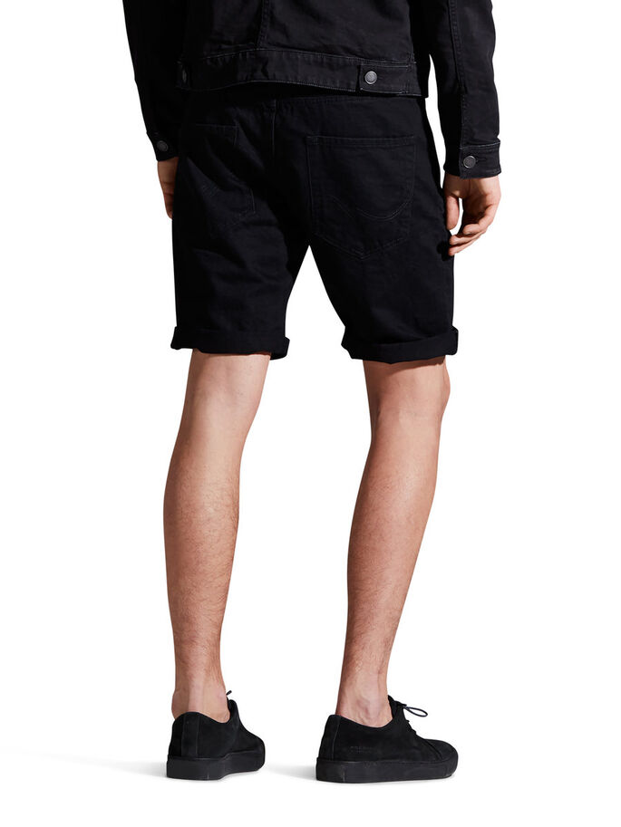 RICK ORIGINAL AKM 767 SHORTS EN JEAN, Black Denim, large