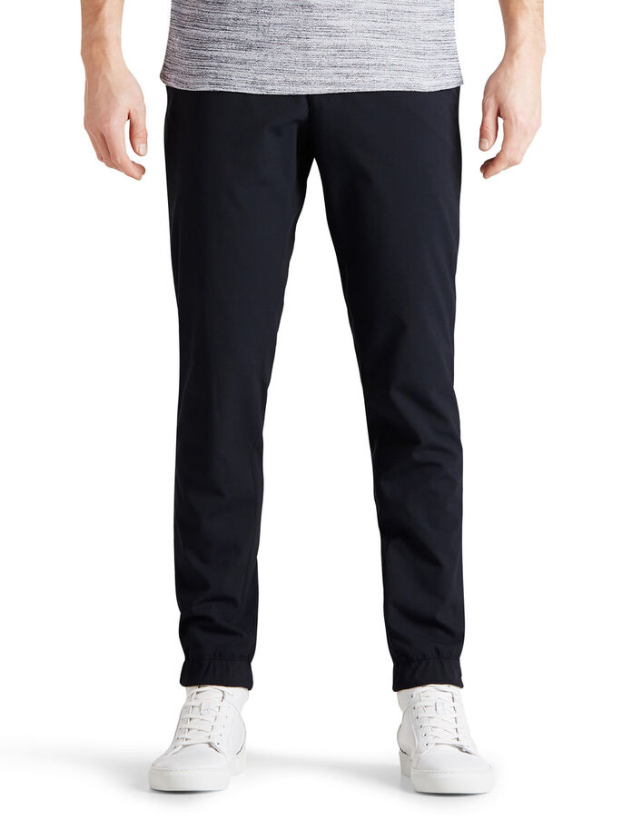SELF-CUFF TAILORED TROUSERS, Dark Navy, large