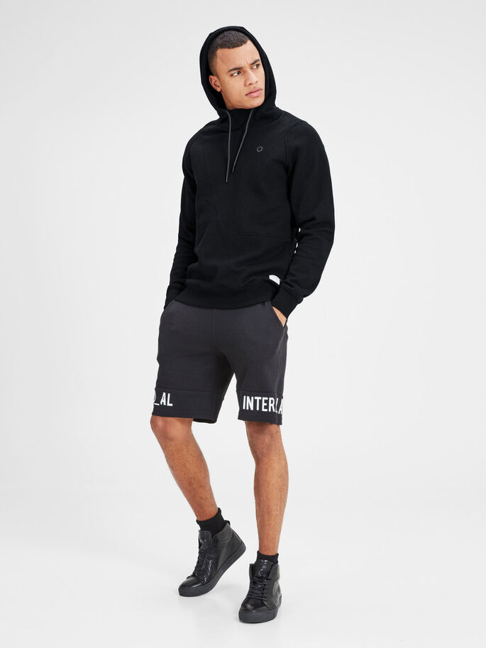 DETAILED HOODIE HOODIE, Black, large