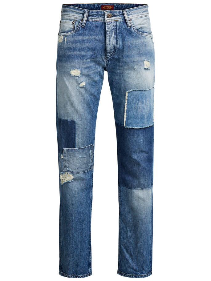 MIKE ORIGINAL JOS 815 ANTI FIT JEANS, Blue Denim, large