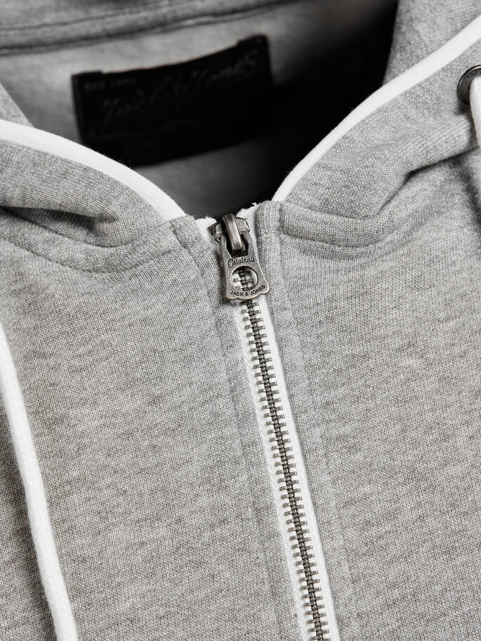 SWEAT RITS HOODIE, Light Grey Melange, large