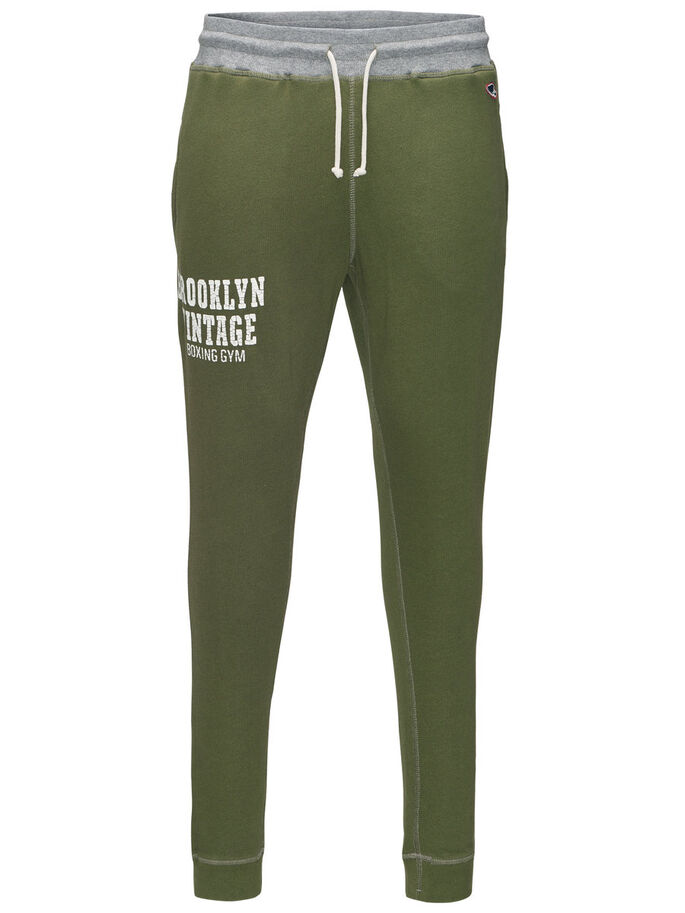 TRACK & FIELD SWEAT PANTS, Olivine, large