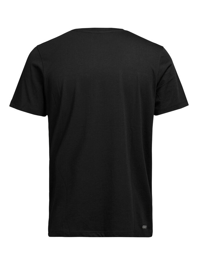 SCHNELLTROCKNENDES T-SHIRT, Black, large