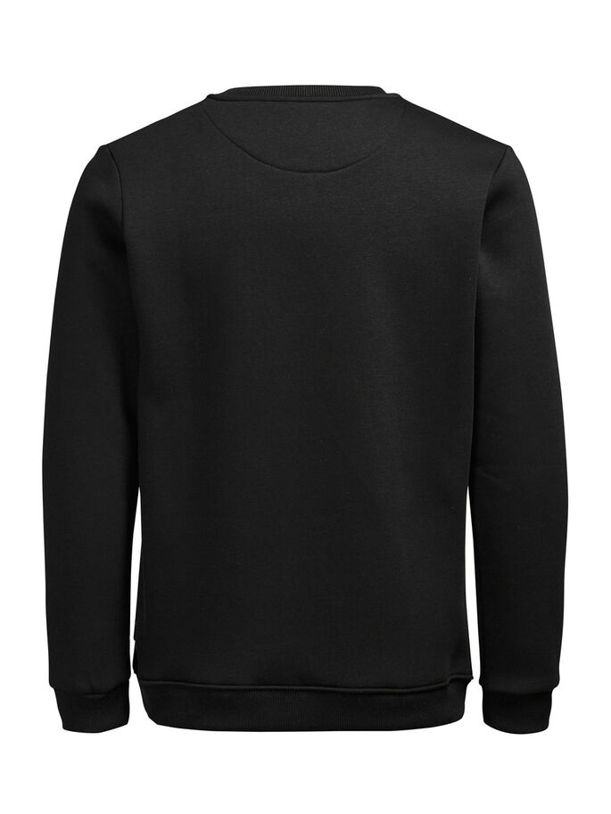 CONTRASTE SWEAT-SHIRT, Black, large