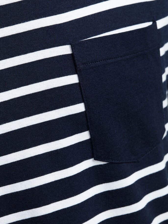 STRIPED T-SHIRT, Navy Blazer, large