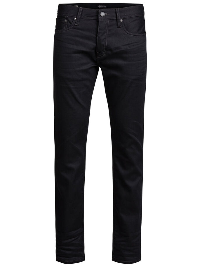 CLARK ORIGINAL JOS 935 REGULAR FIT JEANS, Black Denim, large