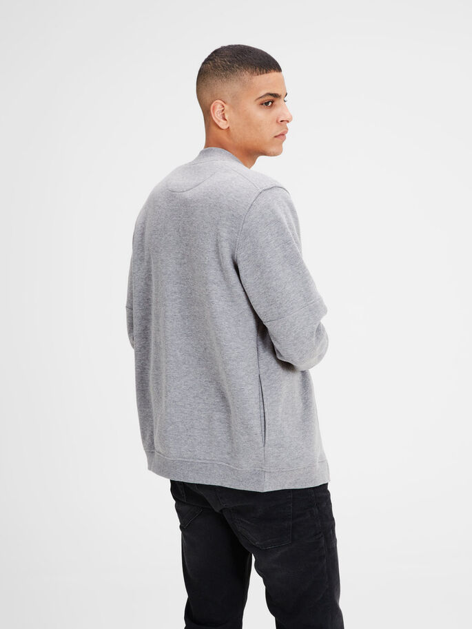 KLASSISCHES SWEATSHIRT, Light Grey Melange, large