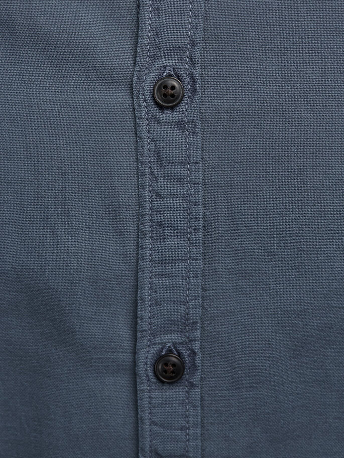 BUTTON-DOWN OXFORD LANGÆRMET SKJORTE, Total Eclipse, large