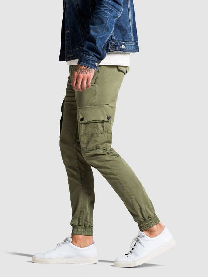PAUL WARNER AKM 168 CARGO BROEK, Deep Lichen Green, large