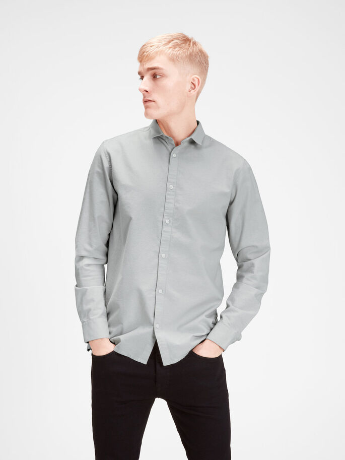 WORK WEAR LONG SLEEVED SHIRT, Oyster Mushroom, large
