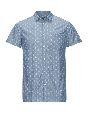 ALL-OVER PRINTED SHORT SLEEVED SHORT SLEEVED SHIRT