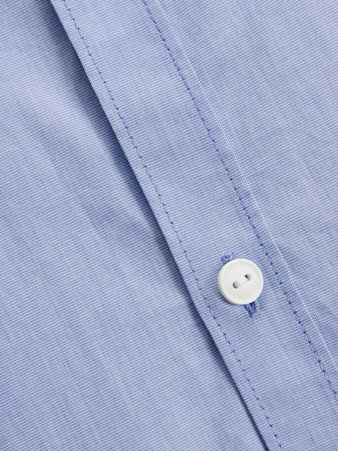 CLEAN CUT SHORT SLEEVED SHIRT, Light Blue Denim, large