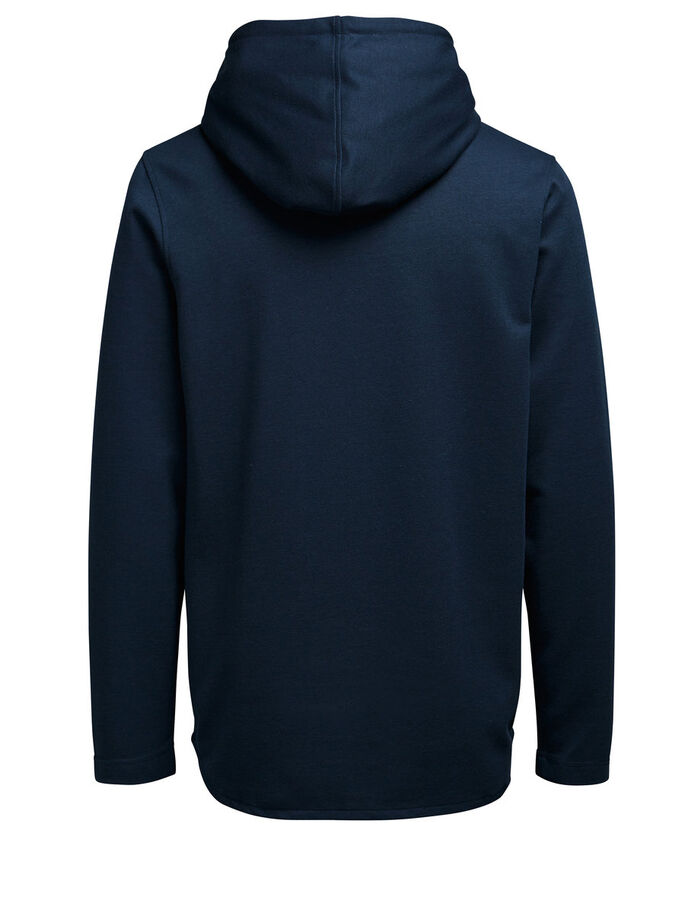 HIGH NECK HOODIE HOODIE, Navy Blazer, large