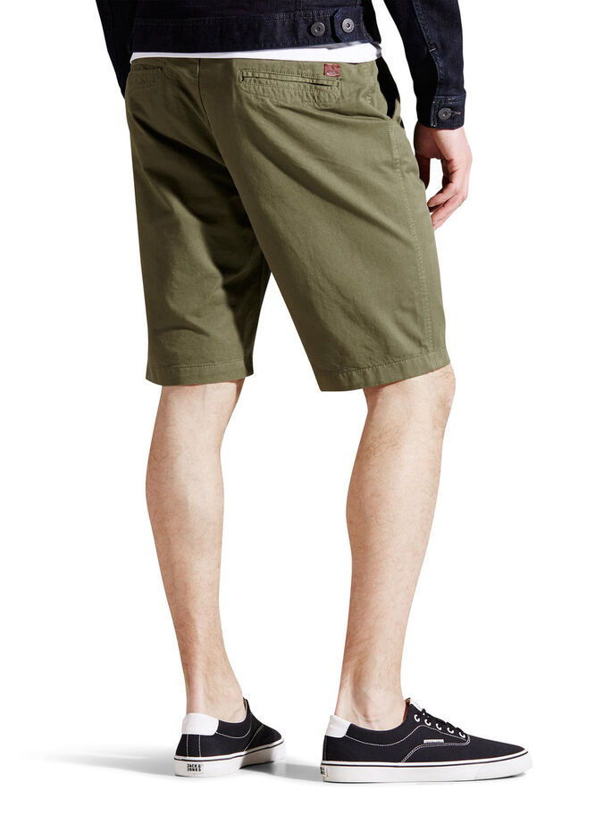 LORENZO LONG CHINO-SHORTSIT, Burnt Olive, large