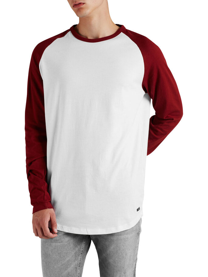 LONG SLEEVE T-SHIRT, White, large