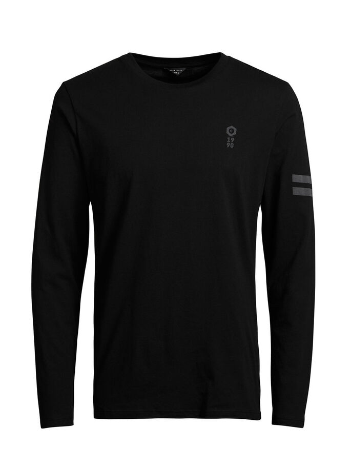 REFLECTERENDE DETAILS T-SHIRT, Black, large