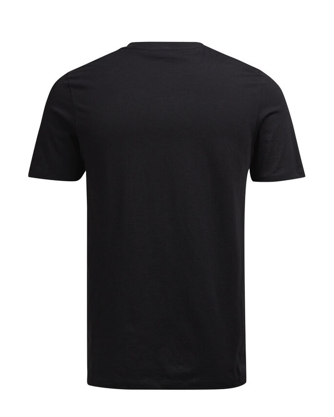 DETAILLIERTES T-SHIRT, Black, large