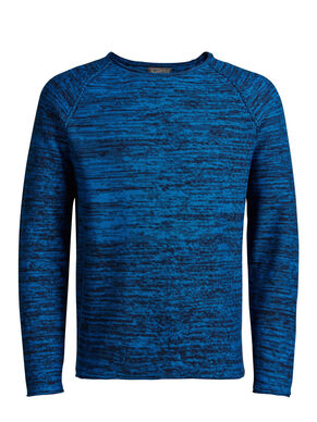 RAGLAN SLEEVED ROLL-EDGE PULLOVER