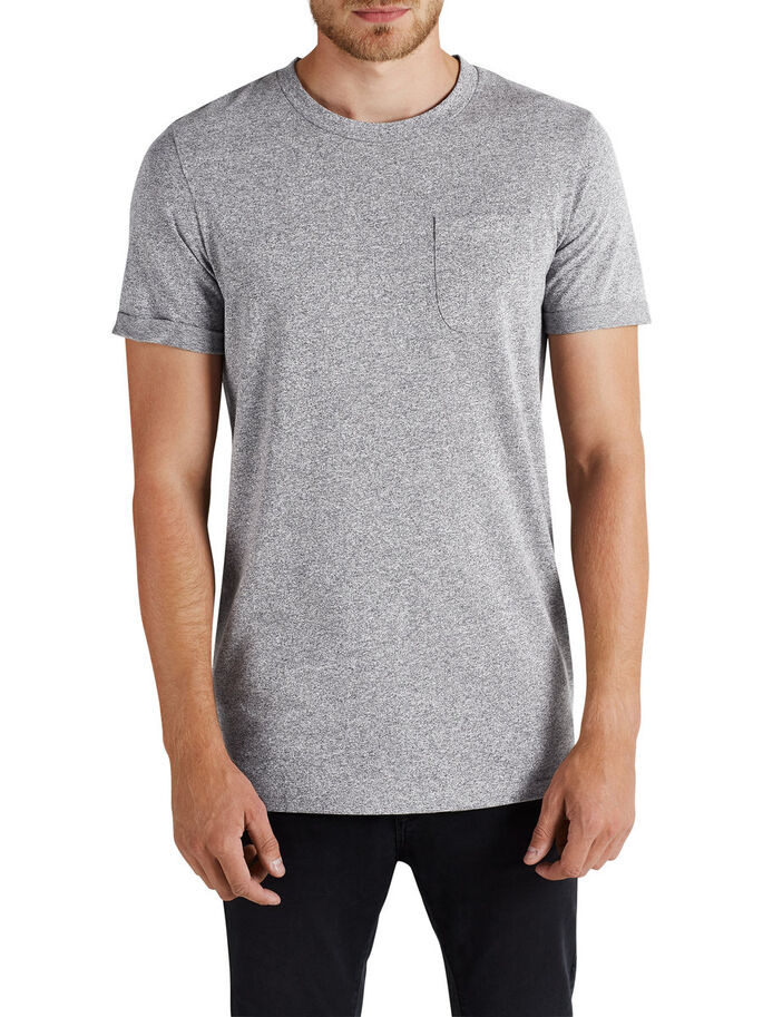 MELANGE T-SHIRT, Light Grey Melange, large