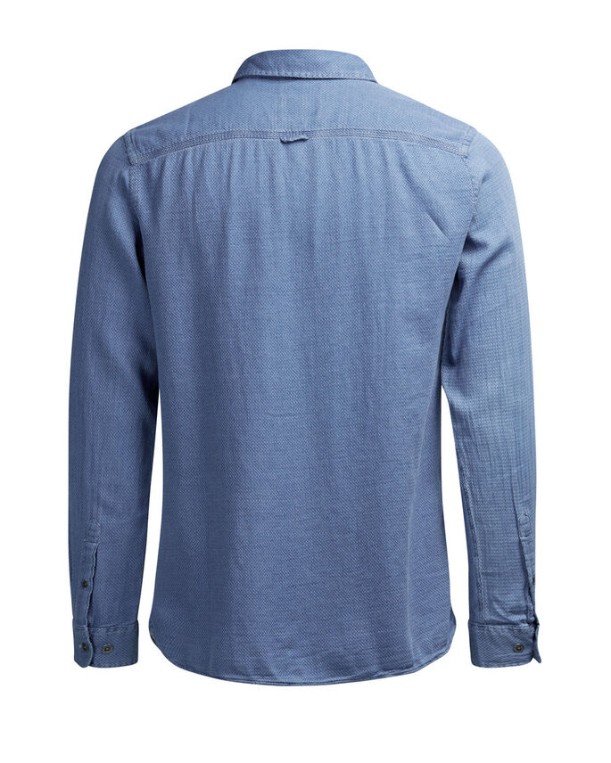 INDIGO DYED LONG SLEEVED SHIRT, Provincial Blue, large