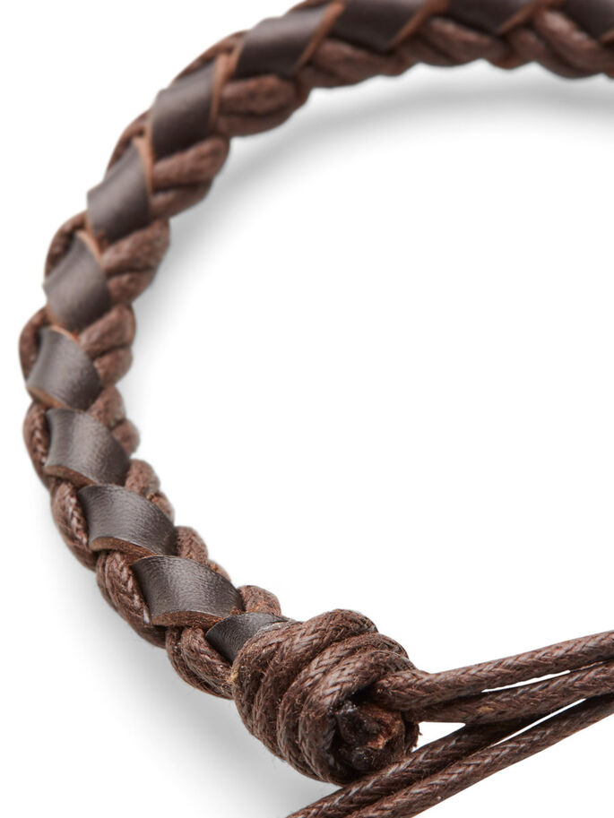 BRAIDED BRACELET, Dark Camel, large