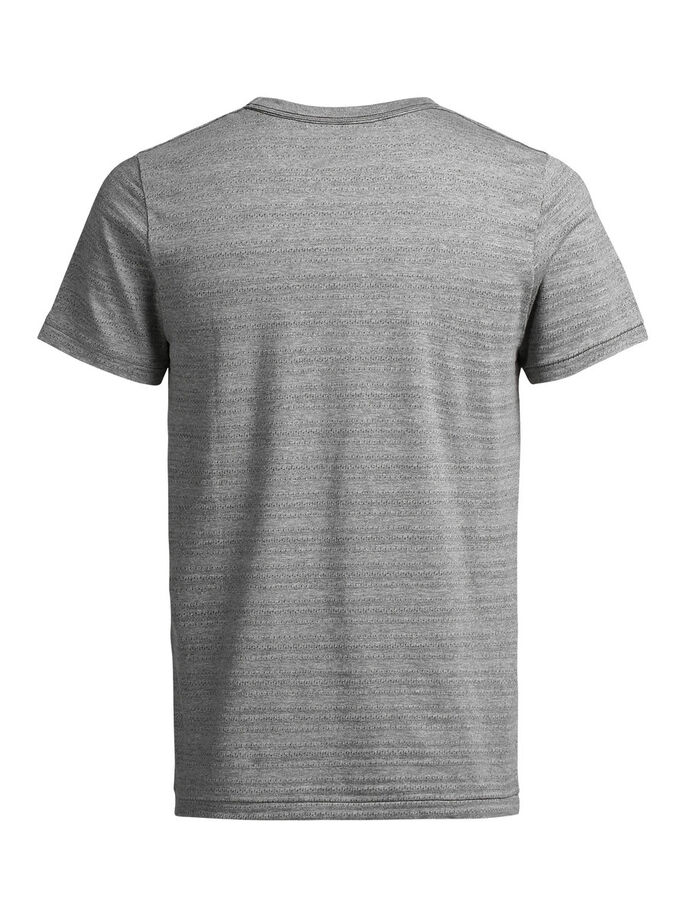 STIPPENPATROON T-SHIRT, Light Grey Melange, large