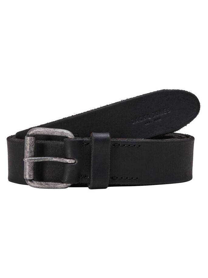 LEATHER BELT, Black, large