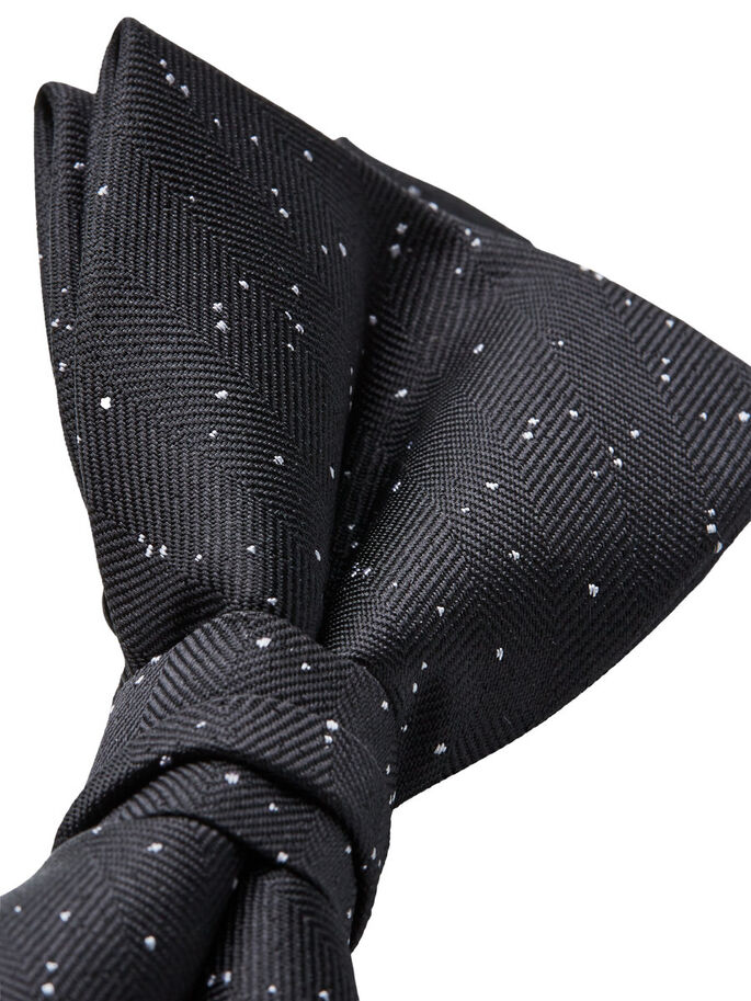 FLECKED BOW TIE, Black, large