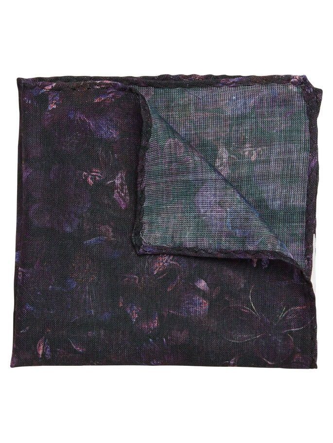 PATTERNED SILK HANDKERCHIEF, Potent Purple, large