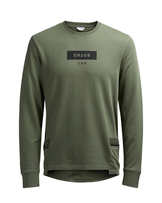 DÉTAILS SWEAT-SHIRT, Dusty Olive, large