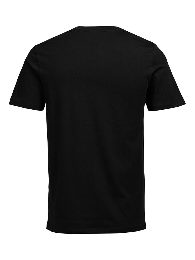 GRAFIK- T-SHIRT, Black, large