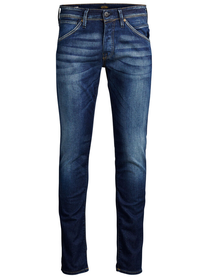 GLENN FOX BL 669 SLIM FIT JEANS, Blue Denim, large