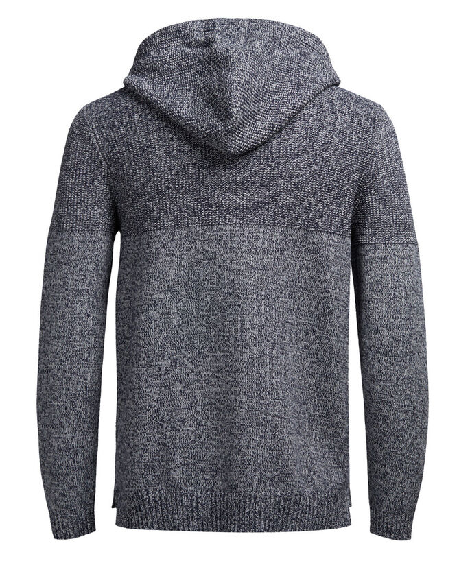 CASUAL PULLOVER A MAGLIA, Light Grey Melange, large