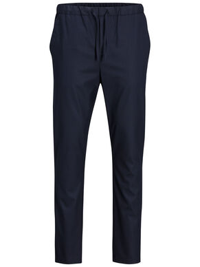 ELASTICATED WAIST TAILORED TROUSERS