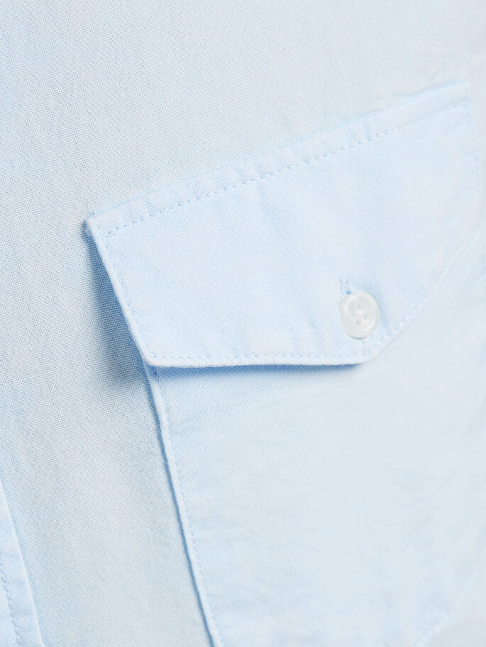 CLASSIC SHORT SLEEVED SHIRT, Light Blue Denim, large