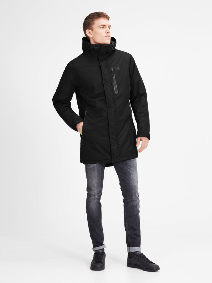 PERFORMANCE PARKA COAT, Black, large