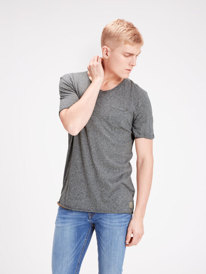 MELANGE T-SHIRT, Dark Grey Melange, large