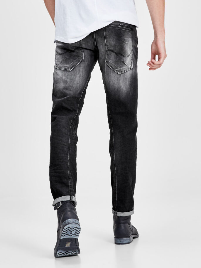 MIKE IRON JOS 314 JEAN COUPE CONFORT, Black Denim, large