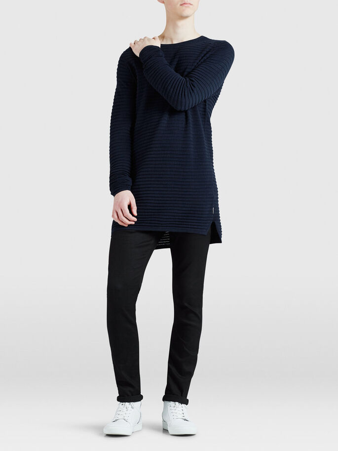 LONG LINE PULLOVER, Navy Blazer, large