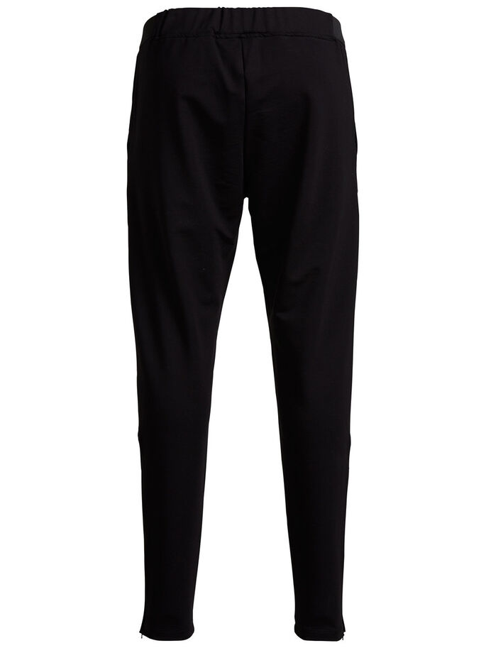 EXTRA THIGHT SWEAT PANTS, Black, large