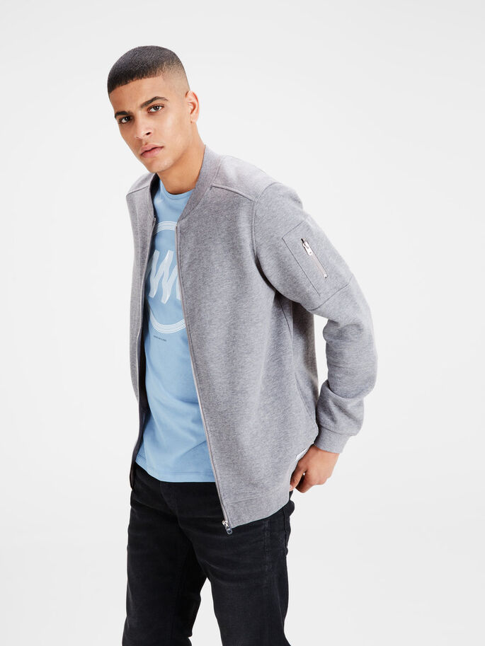 KLASSIEKE SWEATSHIRT, Light Grey Melange, large